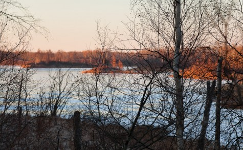 Cold early winter evening at Islet Lake