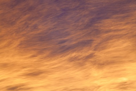 Fiery altostratus sunset