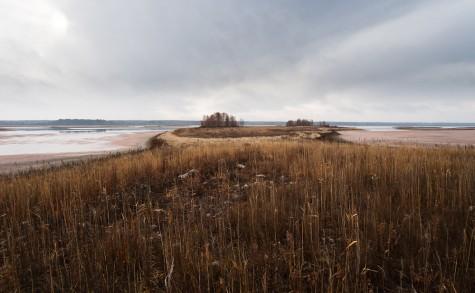 Receding Ministik shoreline